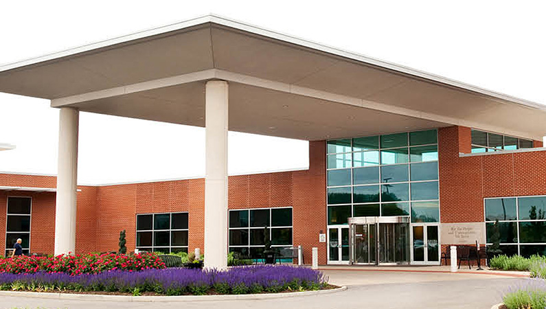 Exterior of Abraham Lincoln Memorial Hospital in Lincoln, Illinois
