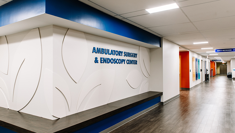 Interior shot of Springfield Clinic's Ambulatory Surgery Center location on the second floor of Main Campus East
