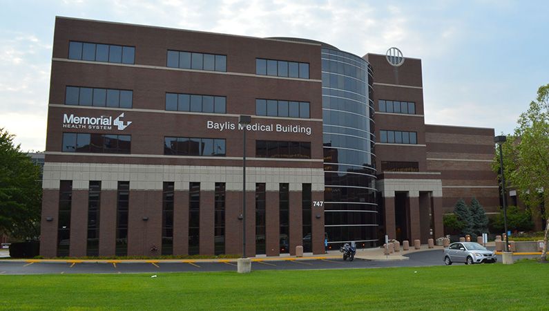 Exterior of Baylis Medical Building in Springfield, Illinois