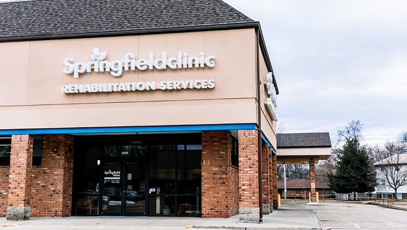 Exterior of rehabilitation service center in Springfield, Illinois