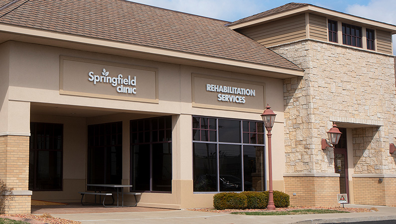 Exterior of rehabilitation services center in Springfield, Illinois