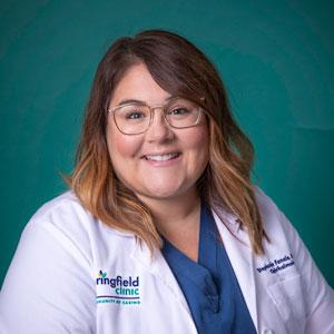 Female ophthalmology nurse practitioner headshot
