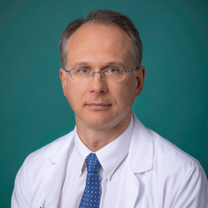 Male internal medicine doctor headshot
