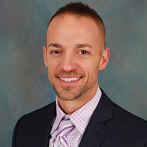 Male orthopedics physician assistant headshot